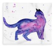 Cat In Space Fleece Blanket
