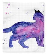 Cat In Space Fleece Blanket