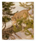 Cat Walk Fleece Blanket