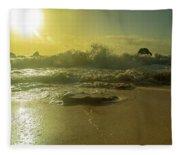 Catching The Spirit Sun Coastal Sunrise Fleece Blanket