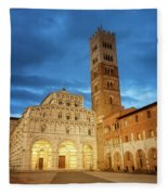 Cathedral Lucca Italy Fleece Blanket