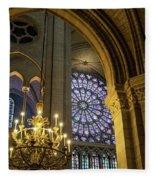 Cathedrale Notre Dame De Paris Fleece Blanket by Brian Jannsen