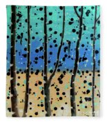 Celebration - Abstract Landscape  Fleece Blanket