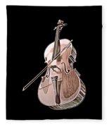 Cello String Music Instrument Musician Color Designed Fleece Blanket