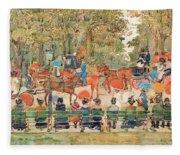Central Park 1901 - Digital Remastered Edition Fleece Blanket