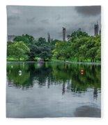 Central Park Reflections Fleece Blanket