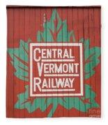 Central Vermont Railway Fleece Blanket