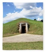 Indian Mound At Ocmulgee National Monument 1 Fleece Blanket