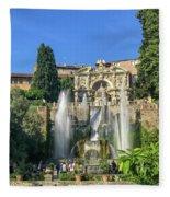 Fountain Of Neptune Fleece Blanket