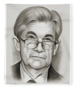 Chairman Powell Fleece Blanket
