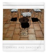 Chairs And Shadows Poster Fleece Blanket