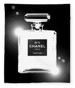Chanel Lights Bw Fleece Blanket