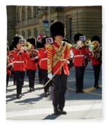 Changing Of The Guard In Ottawa Ontario Canada Fleece Blanket
