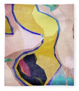 Chaotic Abstract Shapes Fleece Blanket