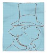 Charles Baudelaire By Edouard Manet Fleece Blanket