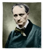 Charles Baudelaire, French Writer, Photo Fleece Blanket
