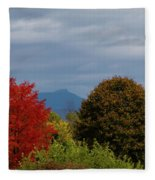 Charlotte Vermont View Of Camels Hump Fleece Blanket