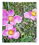 Chateau Montelena Garden 1 Fleece Blanket