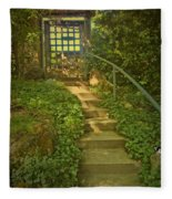 Chateau Montelena Garden Stairway Fleece Blanket