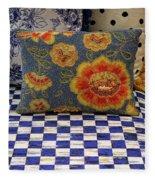 Checkerboard And Pillow Fleece Blanket