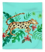 Cheetah's Hunt Fleece Blanket