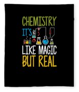 Chemistry Its Like Magic But Real Funny Fleece Blanket