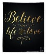 Cher - Believe Gold Foil Fleece Blanket