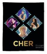Cher - Blue Diamonds Fleece Blanket