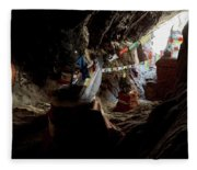 Chhungsi Cave From The Inside, Mustang Fleece Blanket
