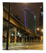 Chicago City Streets Fleece Blanket