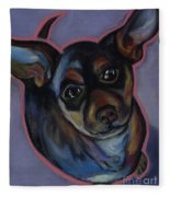 chihuahua Wow Wow Fleece Blanket