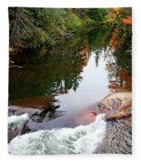 Chikanishing River In Autumn Fleece Blanket
