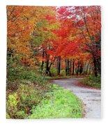 Chikanishing Road In Fall Fleece Blanket