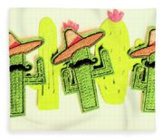 Chili Con Cacti Fleece Blanket