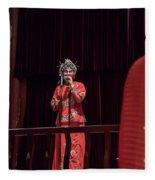 Chinese Opera Singer Onstage Fleece Blanket