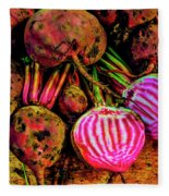 Chioggia Beets Fleece Blanket