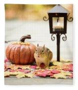 Chipmunk In The Autumn Fleece Blanket