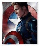 Chris Evans Captain America  Avengers Fleece Blanket