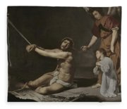 Christ After The Flagellation Contemplated By The Christian Soul Fleece Blanket
