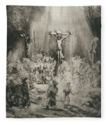 Christ Crucified Between The Two Thieves   The Three Crosses          Fleece Blanket