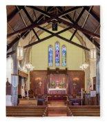 Christ Episcopal Interior Fleece Blanket