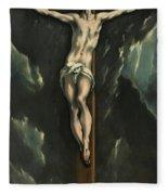 Christ On The Cross, 1610 Fleece Blanket