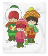 Christmas Angels Fleece Blanket