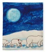 Christmas Bears Fleece Blanket