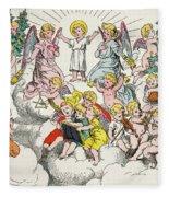 Christmas Fairy Tale Fleece Blanket