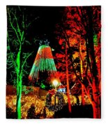 Christmas Red And Green Fleece Blanket