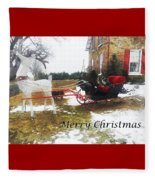 Christmas Sleigh Fleece Blanket