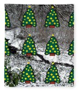 Christmas Trees Fleece Blanket