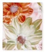 Chrysanthemum Creativity Fleece Blanket