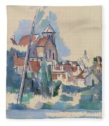 Church At Montigny Sur Loing, 1898  Fleece Blanket